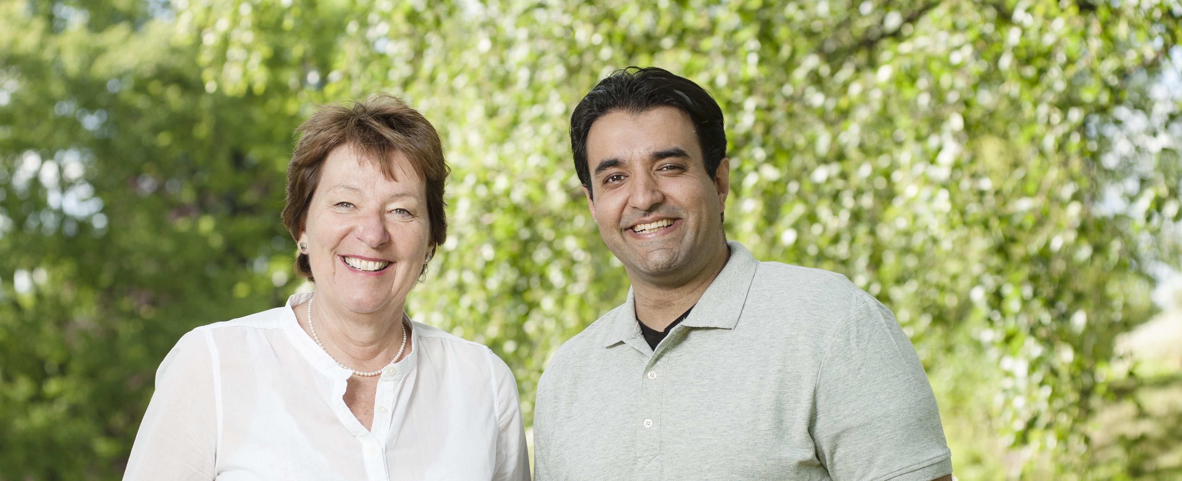 1. og 2. kandidat. Marianne Borgen og Siavash Sangtarash